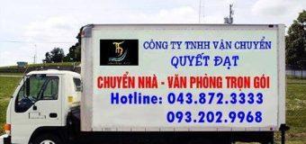 Dịch vụ chuyển nhà Quyết Đạt tại phố Huế 2019