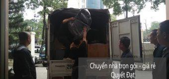 Dịch vụ chuyển nhà Quyết Đạt tại phố Lạc Long Quân