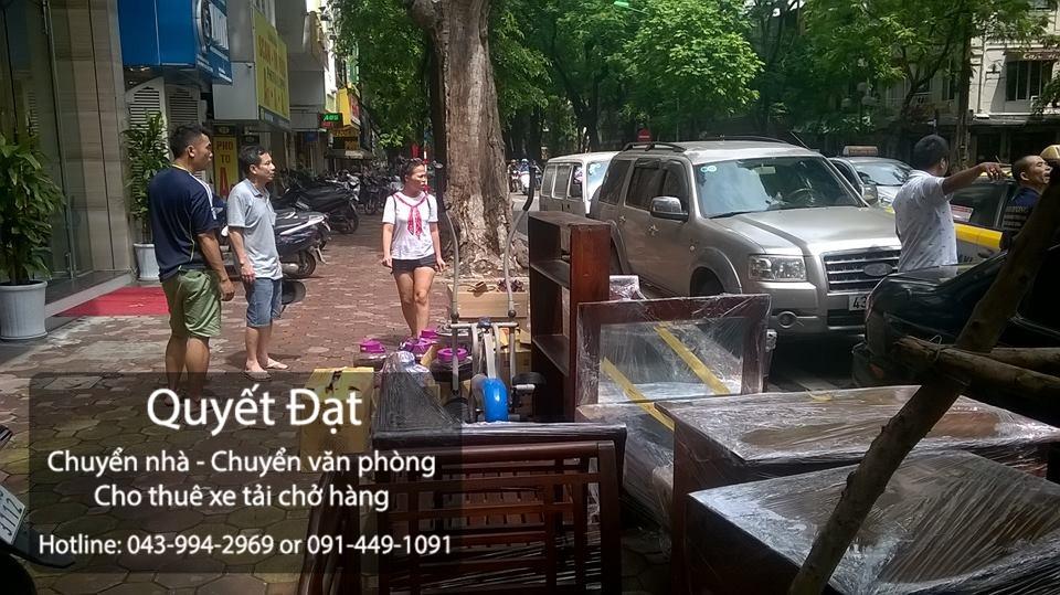 Dịch vụ chuyển nhà trọn gói giá rẻ tại phố Huỳnh Văn Nghệ