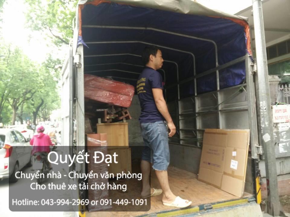 Dịch vụ chuyển nhà trọn gói giá rẻ Quyết Đạt tại phố Ngô Xuân Quảng