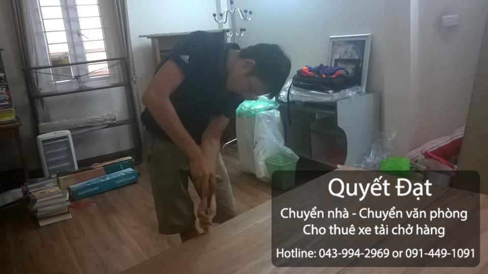 Quyết Đạt dịch vụ chuyển nhà trọn gói giá siêu rẻ tại phố Ngọc Trì