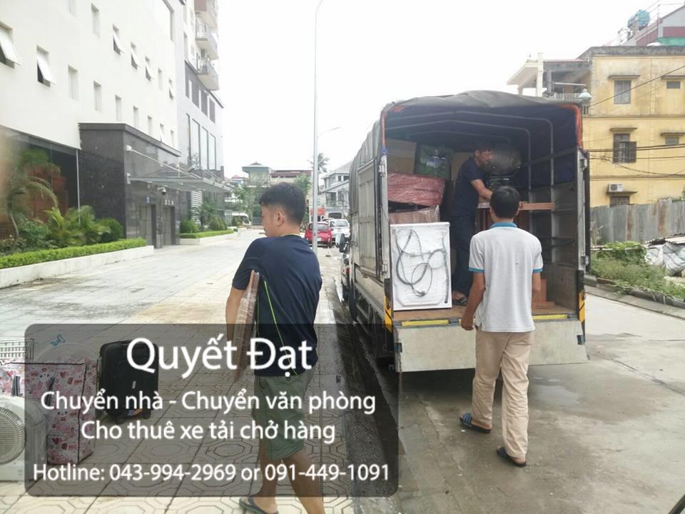 Dịch vụ chuyển nhà Quyết Đạt tại phố Hạ Yên 2019