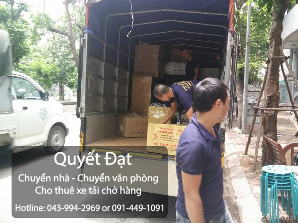 Dịch vụ chuyển nhà Quyết Đạt tại phố Đỗ Đình Thiện
