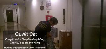 Chuyển nhà trọn gói tại phố Tân Thụy