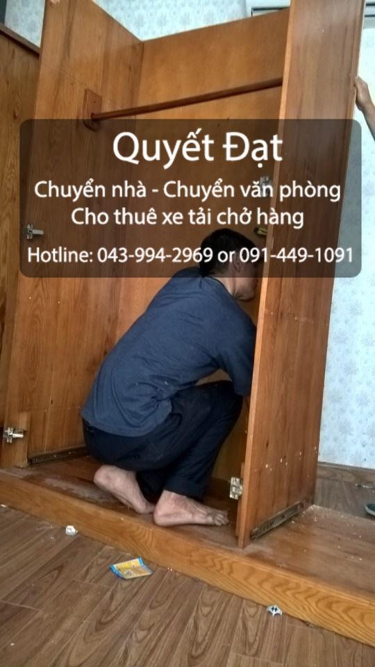 Dịch vụ chuyển nhà Quyết Đạt tại phố Nguyễn Ngọc Vũ