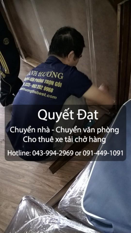 Dịch vụ chuyển nhà trọn gói tại phố Quảng Bá