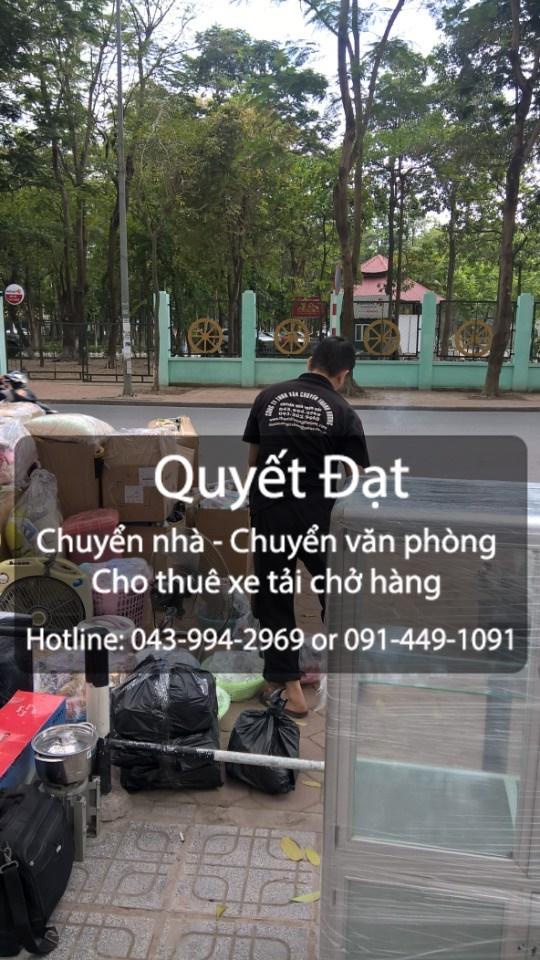 Quyết Đạt cung cấp dịch vụ chuyển nhà tại phố Hoàng Như Tiếp