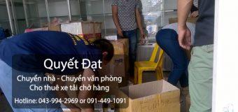 Dịch vụ chuyển nhà Quyết Đạt tại đường Ngô Viết Thụ