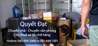 Dịch vụ chuyển nhà Quyết Đạt tại phố Hoa Lâm