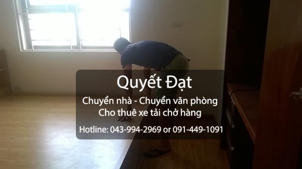 Dịch vụ cho thuê xe tải chuyển nhà trọn gói Quyết Đạt tại phố Việt Hưng