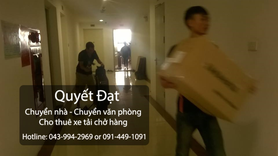 Dịch vụ chuyển nhà Quyết Đạt tại phố Mai Dịch