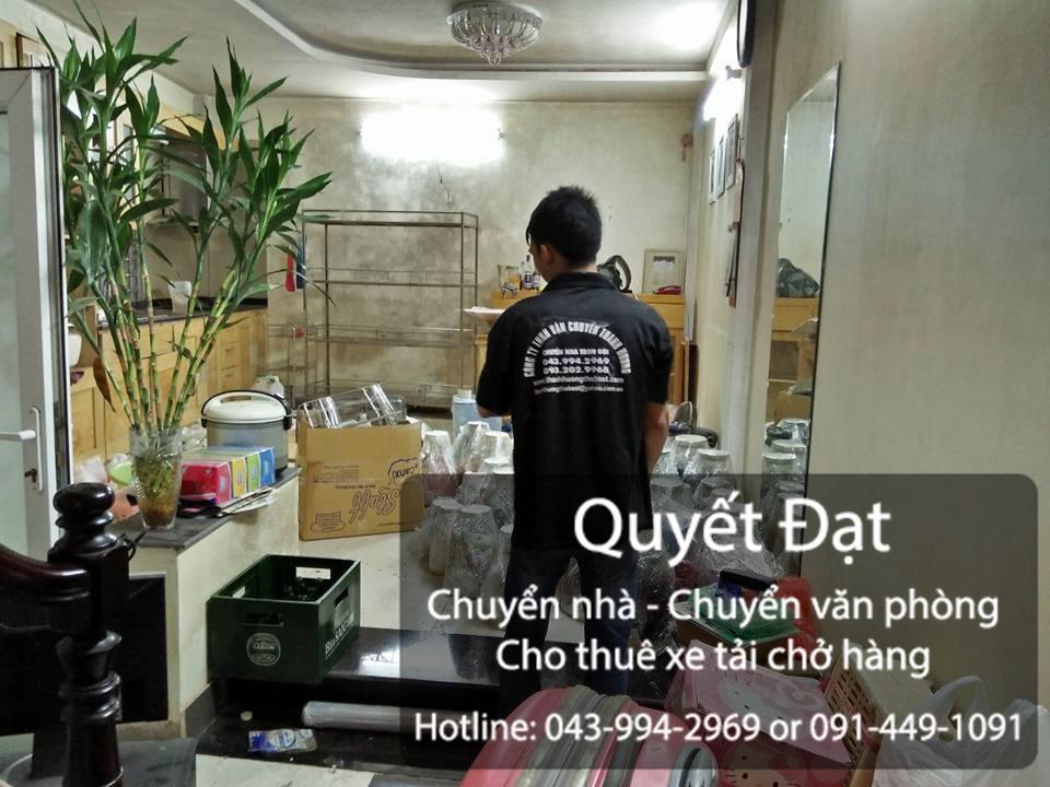 Dịch vụ chuyển nhà Quyết Đạt tại phố Trần Danh Tuyên