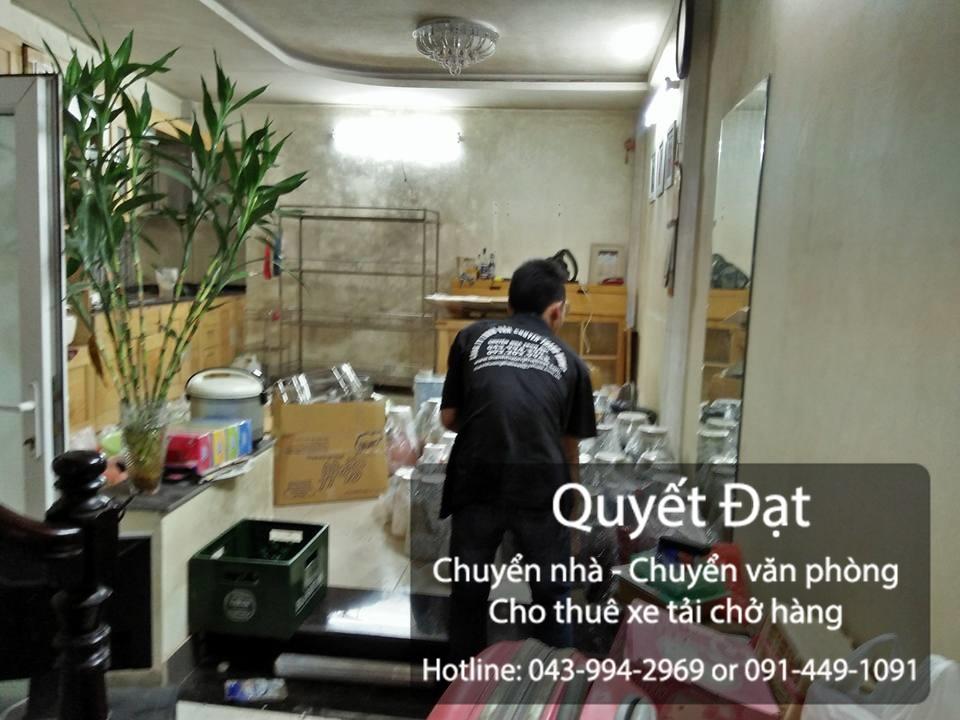 Dịch vụ chuyển nhà trọn gói tại phố Chu Huy Mân
