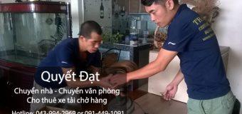 Dịch vụ chuyển nhà trọn gói giá rẻ tại phố Chợ Gạo