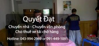 Dịch vụ chuyển nhà Quyết Đạt tại phố Sài Đồng