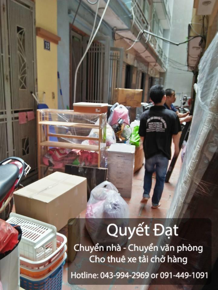 Quyết Đạt cung cấp dịch vụ chuyển nhà trọn gói tại phố Trần Danh Tuyên