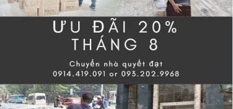 Dịch vụ chuyển nhà Quyết Đạt tại phố Thanh Đàm