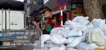 Dịch vụ chuyển nhà Quyết Đạt tại phố Hàng Cháo