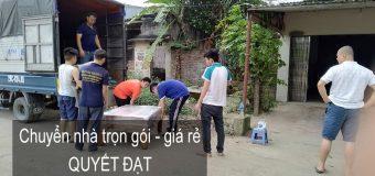 Dịch vụ chuyển nhà Quyết Đạt tại phố Tôn Quang Phiệt 2019