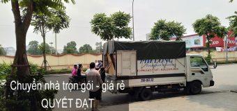 Dịch vụ chuyển nhà Quyết Đạt tại đường Thượng Thụy
