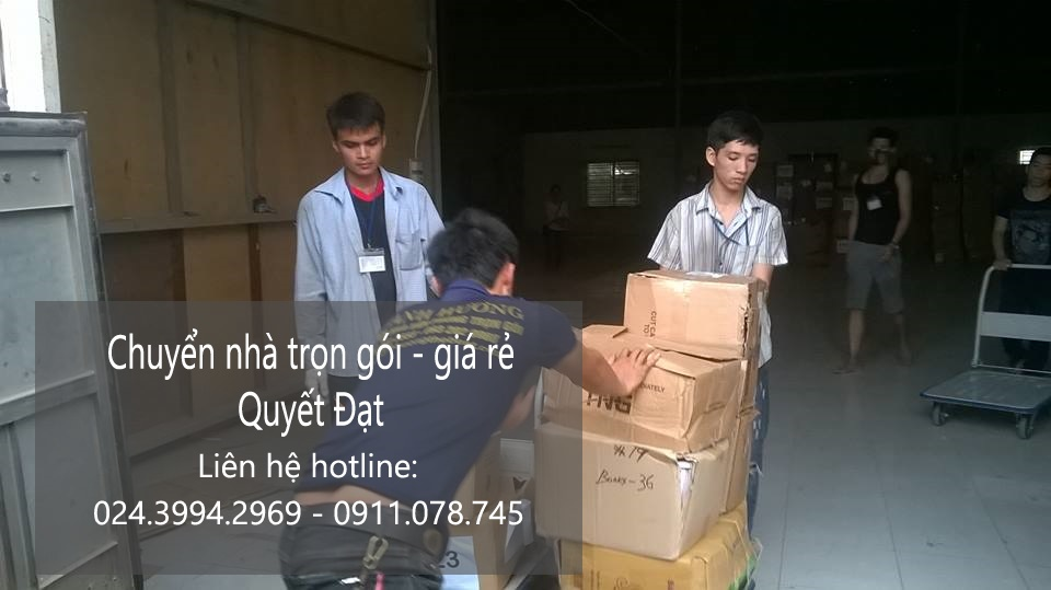 Dịch vụ chuyển nhà Quyết Đạt tại phố Bưởi