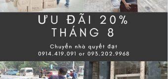Dịch vụ chuyển nhà Quyết Đạt tại phố Thúy Lĩnh 2019