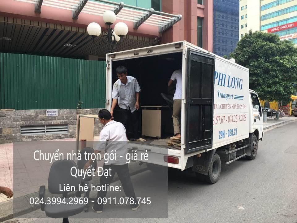 Dịch vụ chuyển nhà Quyết Đạt tại phố Hạ Yên